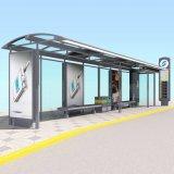 A paragem de autocarro de metal no exterior Shelter com publicidade Caixa de Luz Kiosk