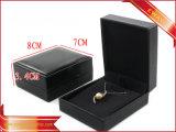 Contenitore di monili di cuoio nero dell'unità di elaborazione di modo del contenitore di monili