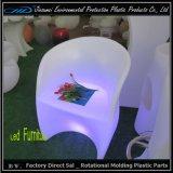 Muebles iluminados de la silla LED de la barra con el material del PE
