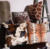 Coussin de tissu de Pluch de coussin de sofa de peaux animales