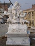 Настраиваемые Handcarved каменные статуи ребенка скульптура для сада и ландшафтного украшения
