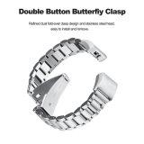 Bracelet de montre de luxe de la montre 18mm de tiges de la bande métallique trois pour Fitbit Charge2