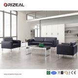 Sofà di cuoio di Orizeal con il blocco per grafici del metallo per il sofà dell'ufficio dello strato (OZ-OSF010)
