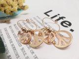 Oorring van het Symbool van de Vrede van de Juwelen van de Tendensen van de manier de Imitatie Gouden