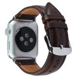 Appleの腕時計の穀物の本革バンド置換ストラップのため