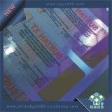 Logotipo UV impressão gravada do bilhete