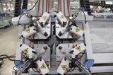 Machine principale sertissante faisante le coin de guichet en aluminium de la commande numérique par ordinateur quatre de machine