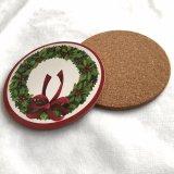 MDFの円形のクリスマスPlacemats
