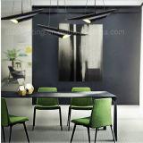 Iluminación de bambú de aluminio oblicua moderna de la dimensión de una variable de la lámpara pendiente del tubo de la venta caliente LED