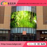 P6mm Ventilação Publicidade Display LED de exterior em cores de tela com armários de ferro