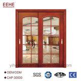 Portello scorrevole di legno con il portello di granaio di vetro di legno del portello del popolare della Bi di disegno del portello