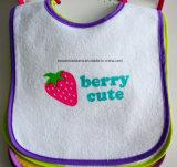 Выполненный на заказ хлопок напечатанный шаржем выдвиженческий подгонянный Терри Bib износа младенца