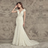 레이스 결혼 예복 인어 신부 웨딩 드레스 Wan42