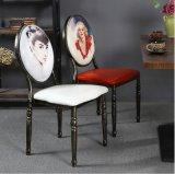 ホテルのレストランの優雅な鉄の食堂の家具の椅子