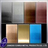 Repère de couleur bronze recouvert de cuivre fini de tôles en acier inoxydable