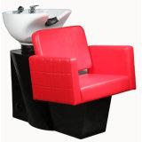 꼭지 머리 세척 의자 침대를 가진 빨간 샴푸 단위