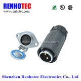 Socket femenino del diamante impermeable IP65 y conector del enchufe masculino de la hebilla del plástico