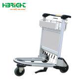 Carro de equipajes del aeropuerto de aleación de aluminio con el freno de mano