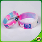 Debossed Color falling LED logo of silicones Wristband for sport
