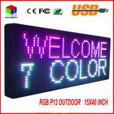 """P13 15 de '' placa de mensagem programável do desdobramento do texto do sinal do diodo emissor de luz da cor cheia x 40 """""""
