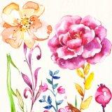 Attraktives Handsegeltuch-Ölgemälde des Blumen-Entwurfs für Hauptdekor
