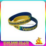 Kundenspezifisches Firmenzeichen-Förderung-Geschenk-justierbarer SilikonWristband, Massensilikon-Armband