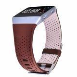 Cinturino superiore del cuoio genuino del nero di vendita per Fitbit ionico