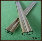 Tubazione di vendita superiore del tubo del tubo di vetro di quarzo del silicone del gemello di doratura elettrolitica