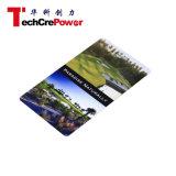 Cartão 3D gravado do PVC RFID do plástico negócio esperto sem contato