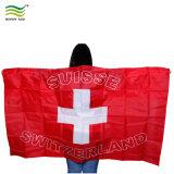 Дешевые поощрения стильный корпус Швейцарии флаги Poncho для использования вне помещений Органа плащи