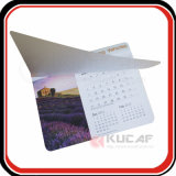 Calendrier fait sur commande de Tableau de tapis de souris de papier d'imprimerie