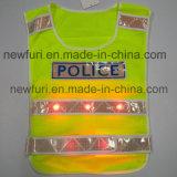 網10 LEDは警察のための反射ベストをつける