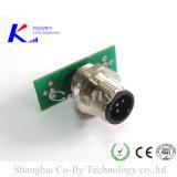 5 핀 위원회 마운트 자동 방수 M12 M8 금속 전기 연결관