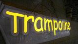 매력적인 옥외 후면발광 표시 스테인리스 Signage LED 금속 표면 Backlit 편지 표시