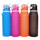 Botella de agua plegable del silicón hermético portable promocional con 1000 ml