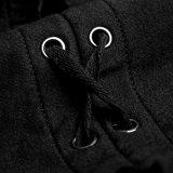 Pianura incappucciata del rivestimento del sudore lavorata a maglia il nero gotico delle donne Y-751