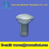 Boulon carré principal plat de /Cariage de boulon de transport de collet d'acier inoxydable avec l'ecrou-papillon et rondelle plate