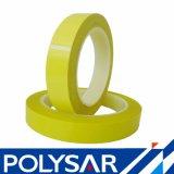 Cinta adhesiva del aislante amarillo de la película para los componentes electrónicos