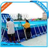 Het commerciële Zwembad van het Staal van het Frame van het Metaal van de Volwassene en van Jonge geitjes Opblaasbare