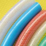 Versterkte Slang van pvc van de Buizen van de Pijp van de Slang van het Water van pvc van de hoge druk de Flexibele Plastic Kleurrijke Vezel