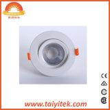 LED 5W de luz hacia abajo en el techo ajustable Embedded COB Downlight LED