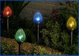 De haute performance de bille de lumière de série lampe rechargeable solaire décorative extérieure en verre bon marché avec la bille en verre changeante de crépitement de couleur