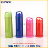 Botella de agua con estilo del color hermoso al por mayor con la paja