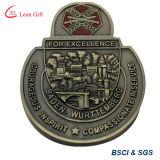 工場カスタム性のロシアの長方形の高貴なラグビーの硬貨メダル
