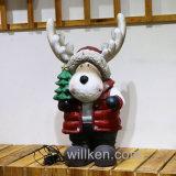 Décorations extérieures de figurines de bonhomme de neige de thème de Noël de qualité