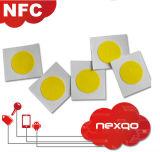 Etiqueta/etiqueta passivas personalizadas do embutimento do Tag de RFID Ntag213/Ntag216 NFC