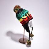 レディース女の子の子供の冬の暖かい編まれた屋外のEarflapの耳のウォーマーのスキー飛行士の帽子(HW154)