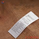 Privados de atención personalizada de lavado de la impresión de etiquetas para ropa de etiqueta de satén