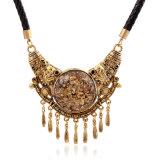 革ワイヤー、首Chanのチョークバルブが付いている優雅な型のネックレス