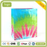 Tres colores revestido de arte de la moda bolsas de papel de regalo